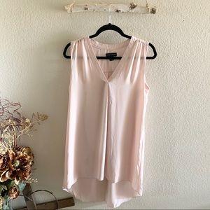 Adrienne Vittadini Pink Blush V-Neck Tunic